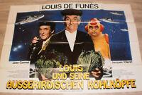 A0 Filmplakat,LOUIS UND SEINE AUSSERIRDISCHEN KOHLKÖPFE, LOUIS DE FUNES