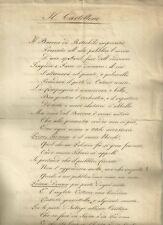 Il Cartellone Poemetto Satirico Risorgimentale Contro i Sovrani d'Europa 1840 ca