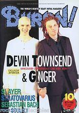 Burrn! Heavy Metal Magazine October 1998 Japan Devin Townsend Ginger Dio