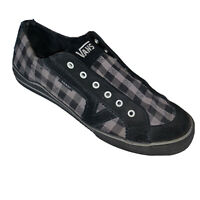 Vans Slip On Shoes Womens 9.5 Plaid Used Black White Checker Skater