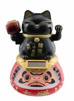 Gran Gato Japonés Sur Daruma Solar 15CM Negro Manekineko Botones Animada 40708