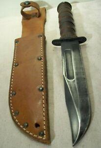 WWII~CAMILLUS~USMC MK2 MARINE FIGHTING KNIFE~GOV'T. ISSUED COMBAT WEAPON +SHEATH