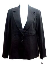 Coco Couture New York Women's Blazer / Jacket  Long Sleeve Black Size 12 NWT