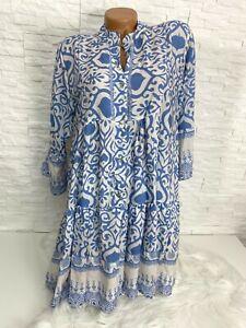 Italy Hippie Boho  Hängerchen Tunika Kleid  Gr.  38 40 42 Neu K-513
