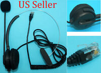 New T400 Headset For Polycom SoundPoint IP Phone Series 430 450 550 670 black