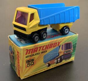 VTG Lesney Matchbox Superfast #50 ARTICULATED DUMP TRUCK New in Original Box NIB