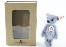 """Steiff Club Teddy Bear Light Blue Club Gift 5"""" Tall W/ Button ca 2004"""