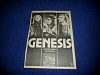 GENESIS AND THEN THERE WERE 3  1978 FULL PAGE PRESS ADVERT POSTER SIZE  37/26CM