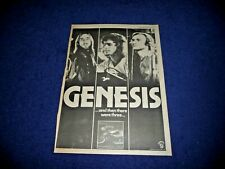 More details for genesis and then there were 3  1978 full page press advert poster size  37/26cm
