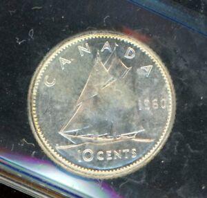 1960 Canada Ten Cents - ICCS MS-65 - XMI563