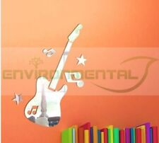 Guitar Musical Acrylic Plastic Mirrors Wall Home Decal Decor Vinyl Art Stickers