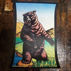 Old Vintage 1977  Blacklight Poster Grizzly Bear Pro Arts Inc Velvet