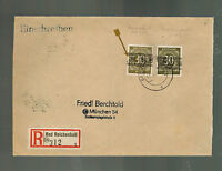 1948 Bad Reichenhall Germany Occupation Cover pair # Mi 631 k Inverted Overprint