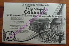 Publicité PHONOGRAPHE VIVA TONAL COLUMBIA GRAFONOLA  1927 advert