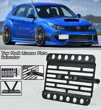 For 08-14 Subaru Impreza WRX STI Front Tow Hook License Plate Relocated Bracket