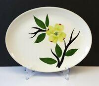 "Joni China ""Dixie Dogwood"" Flower Blossom 11½"" Oval Serving Platter Hand-Painted"