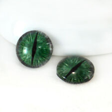 16mm Green and Grey Dragon Glass Taxidermy Eyes Jewelry Making Craft Supply