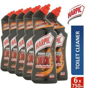 6 x Harpic Power Plus Max Disinfectant Toilet Cleaner Limescale Removal 750ml