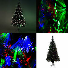 6ft 180cm Green Pre Fibre Optic Christmas Xmas Tree 3ft 4 5ft Lights Decorations