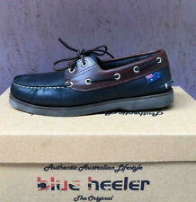 Blue Heeler Segelschuhe, Bootsschuhe, Sail, blau / braun, Sonderposten !