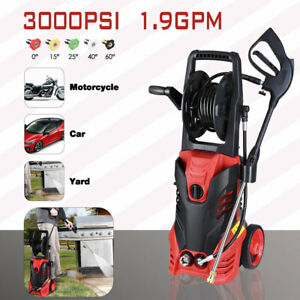3000PSI 1.9GPM Electric Pressure Washer Water Cleaner Power Sprayer Kit 2200W US