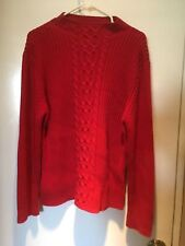 Talbot's Mock Turtleneck Red Sweater Women's L-XL
