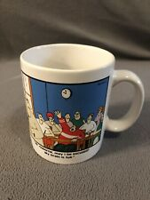 THE FAR SIDE My Brain Is Full Coffee Tea Mug Cup 1986 Gary Larson EUC