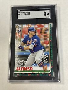 2019 Topps Holiday Pete Alsonso RC #HW71 SGC 9