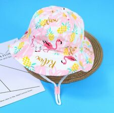 kids children girls bucket hat school beach outdoor sun protection cotton