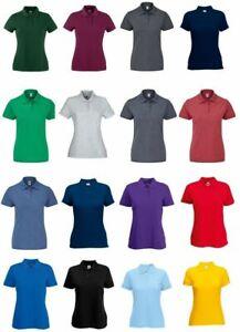 Damen Polo Shirt - Fruit of the Loom - Piqué Polo 65/35 - XS-XXL