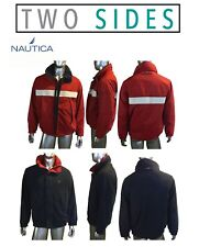 Vintage 90's Nautica Sport Jacket Windbreaker/Fleece 2 Sided W/ Hood, XL