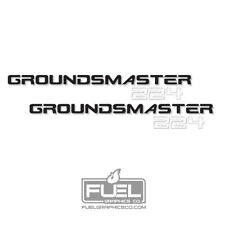 "Toro Groundsmaster 224 Premium Vinyl Decal 2-Pack - 25"" wide x 3.2"" tall  224"