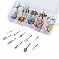 100Pcs Mixed Types Dental Prophy Brush Latch Cup Flat Cane Taper Teeth Polisher