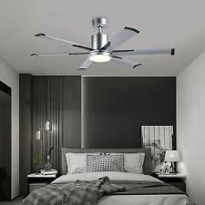 Hot 52'Industrial Ceiling Fan with 6 Aluminum Fan Blades &White Glass Led Light