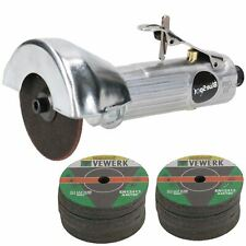 """3"""" / 75mm Air Cut Off Cutting Tool Pneumatic Grinding Saw Cutter With 52 Discs"""