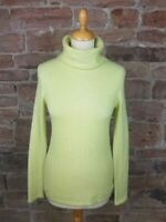 Pure Collection Cashmere Polo Neck in Lime Green