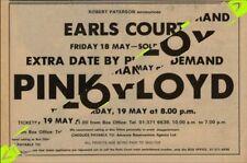 Pink Floyd Earls Court 'Extra Date' UK concert Advert MM-SXZI