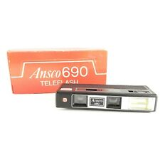 Vintage ANSCO 690 Teleflash Pocket Camera 110 Film with Built-In Flash With Box
