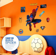 Super Hero Spider Man Wall Art Sticker Vinyl Decal Kids Room Decor Mural DIY