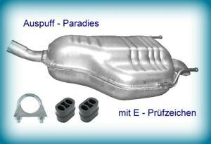 Endschalldämpfer Auspuffanlage Schalldämpfer für Opel Zafira B 2.2 Typ A05 + Kit