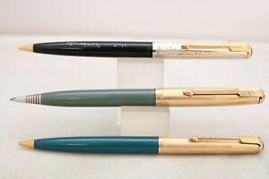 Vintage (c1950) Parker 51 Mechanical Pencils, 3 Different Designs, UK Seller