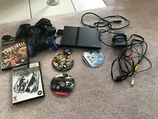 Play Station 2 With Cords And Controllers Comes With 5 Games Read Description