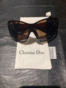 womens sunglasses with carry pouch Brown Frame/lens