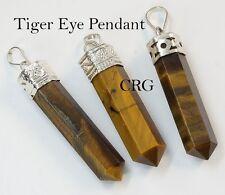 Silver Plated Tigereye Pencil Point Pendant (PN11DG)