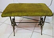 Antique Fireplace Bench Cast Iron Legs Stool Seat Vanity