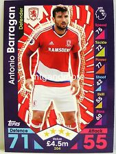 Match Attax 2016/17 Premier League - #204 Antonio Barragan - Middlesbrough