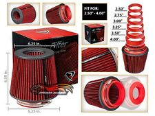 "RED 2.5""-4.0"" Inlet Universal Cold Air Intake Cone Adjustable Size Dry Filter"