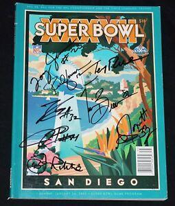 RAIDERS Signed SB Super Bowl XXXVII Program 8 Autos Jerry Rice, Gannon, Brown +