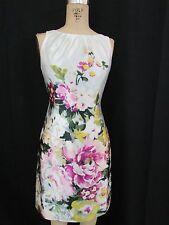 NWT!!  ANN TAYLOR LOFT Petite  Floral Print Sleeveless Shift Dress-Size 2P