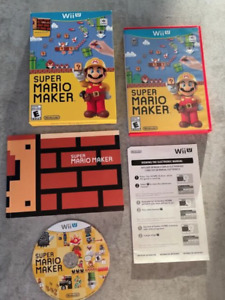 Wii  Super Mario Maker    Video Game with manual   BRAND NEW       U